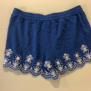LOFT Shorts - LOFT blue scalloped/eyelet shorts - Medium